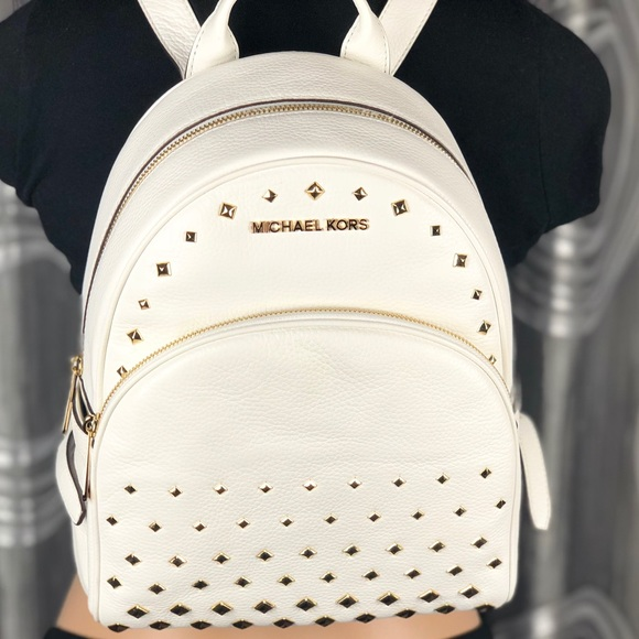 8bc21f0535ee Michael Kors Bags | 1 Day Sale Mk Abbey Studded Leather Backpack ...